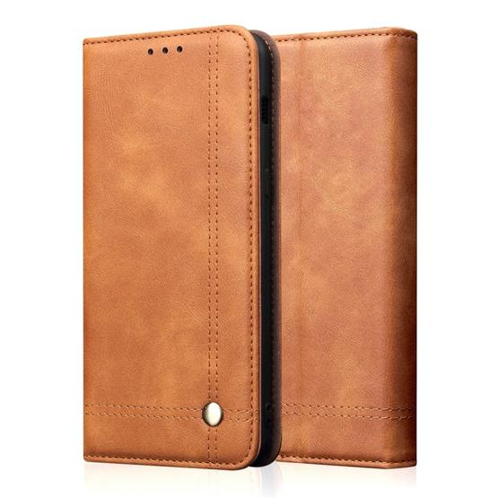 Casual Style Retro Crazy Horse Texture Horizontal Flip Leather Case for Xiaomi Mi 9, with Card Slots & Holder & Wallet (Brown) - 1