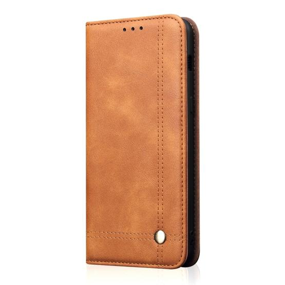 Casual Style Retro Crazy Horse Texture Horizontal Flip Leather Case for Xiaomi Mi 9, with Card Slots & Holder & Wallet (Brown) - 2