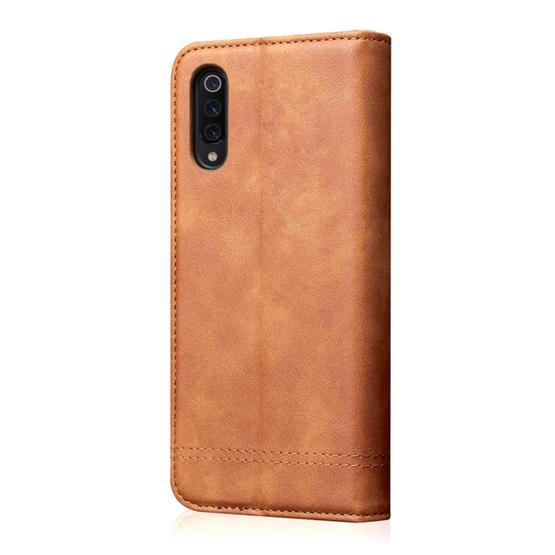 Casual Style Retro Crazy Horse Texture Horizontal Flip Leather Case for Xiaomi Mi 9, with Card Slots & Holder & Wallet (Brown) - 3