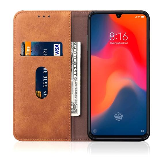 Casual Style Retro Crazy Horse Texture Horizontal Flip Leather Case for Xiaomi Mi 9, with Card Slots & Holder & Wallet (Brown) - 4
