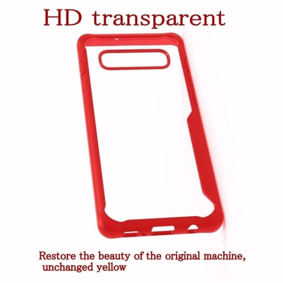 Transparent PC + TPU Full Coverage Shockproof Protective Case for Galaxy S10+ (Red) - 3