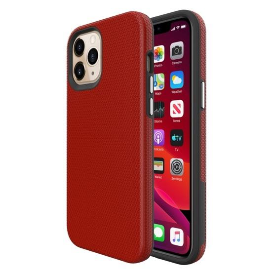 For iPhone 12 Pro Max Triangle Armor Texture TPU + PC Case ...