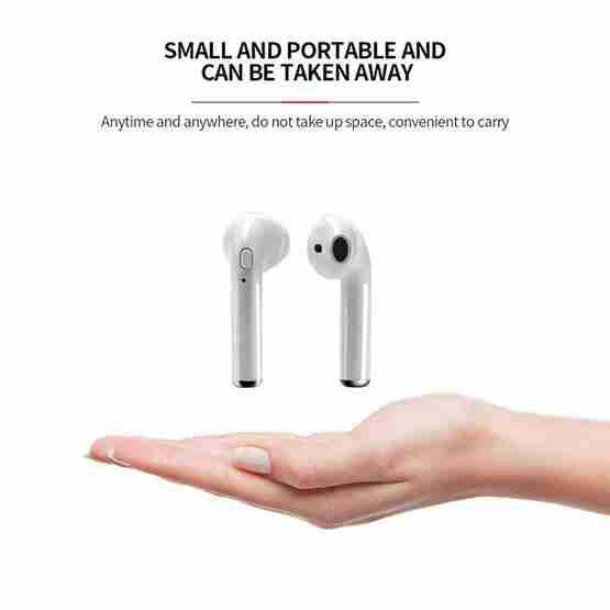 i7S TWS Universal Dual Wireless Bluetooth 5 0 Earbuds Stereo Headset In-Ear  Earphone with Charging Box, Automatic Dual Ears Pairing(White)